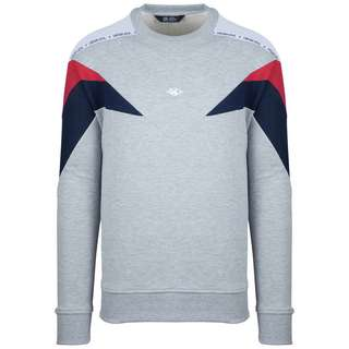 Unfair Athletics Hash Panel Crewneck Sweatshirt Herren hellgrau / rot