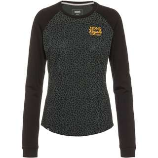 Mons Royale Merino The Go To Raglan Langarmshirt Damen wild thing