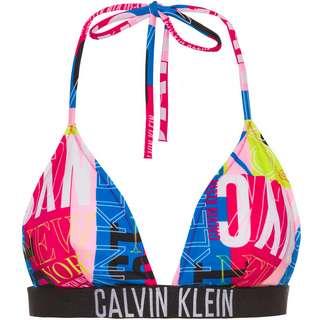 Calvin Klein Bikini Oberteil Damen new york logo pink
