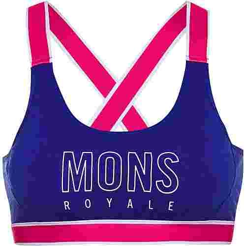 Mons Royale Merino Stella X-Back BH Damen ultra blue