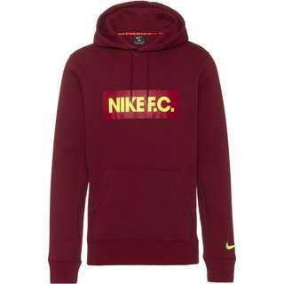 Nike FC Hoodie Herren dark beetroot-cardinal red-volt