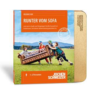 Jochen Schweizer Runter vom Sofa Geschenkbox mehrfarbig