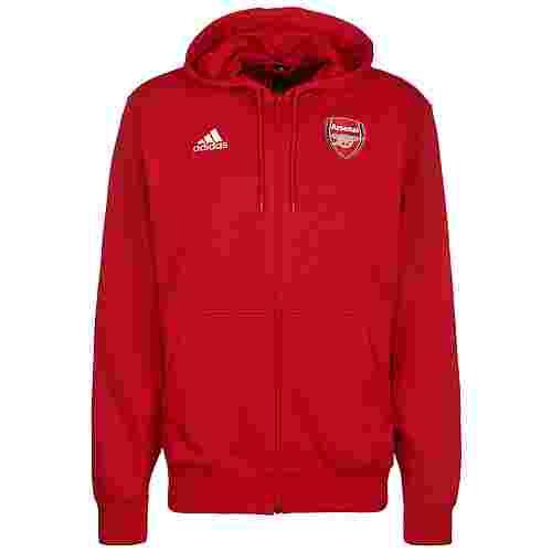 adidas FC Arsenal 3-Streifen Sweatjacke Herren rot / weiß