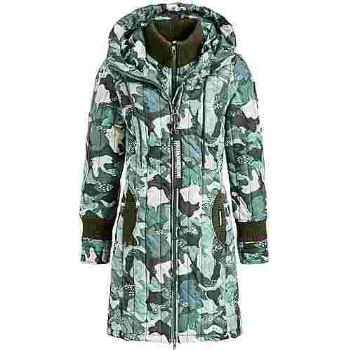 Khujo JERRY PRIME_3 Steppmantel Damen grün camouflage