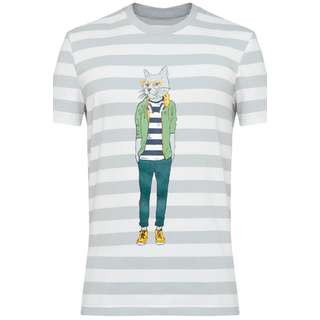 Finn Flare Printshirt Herren light silver