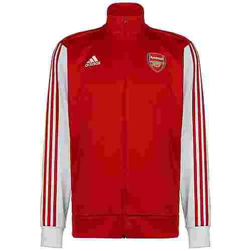 adidas FC Arsenal 3-Streifen Trainingsjacke Herren rot / weiß