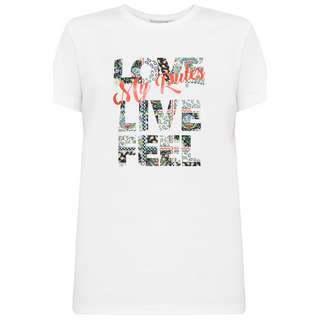 Finn Flare Printshirt Damen white