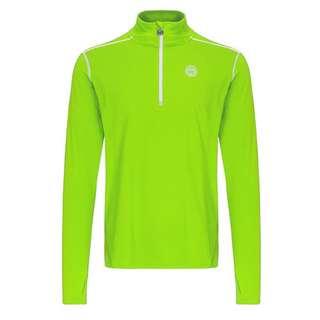 BIDI BADU Zac Tech Longsleeve Tennisshirt Herren neongrün/weiß