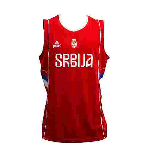 Peak Serbien 2016 Basketballtrikot Herren Serbia Red