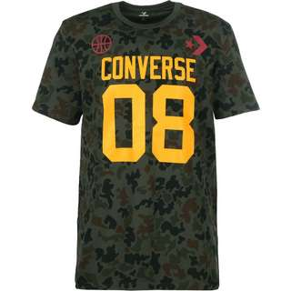 CONVERSE Basketball Theme T-Shirt Herren grau/orange