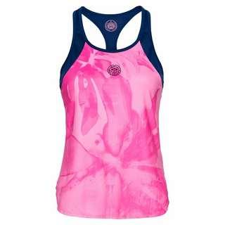 BIDI BADU Fleur Tech Tank Tennisshirt Damen pink/dunkelblau