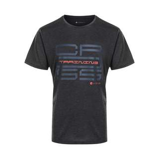 Virtus SUKER MELANGE Printshirt Herren 1111 Black Melange