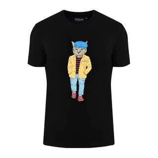 Finn Flare Printshirt Herren black