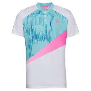 BIDI BADU Kesar Tech Polo Tennisshirt Herren weiß/mint/pink