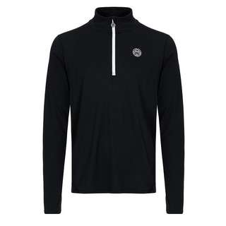 BIDI BADU Zac Tech Longsleeve Tennisshirt Herren schwarz/weiß