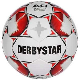 Derbystar Brilliant TT AG Fußball weiß / rot