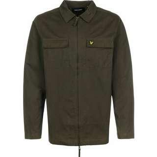 Lyle & Scott Cotton/ Nylon Overshirt Langarmhemd Herren oliv