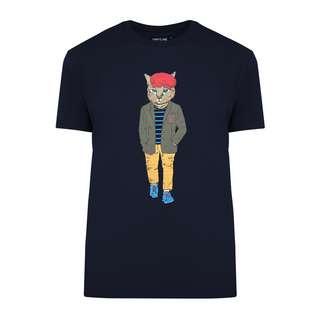 Finn Flare Printshirt Herren cosmic blue