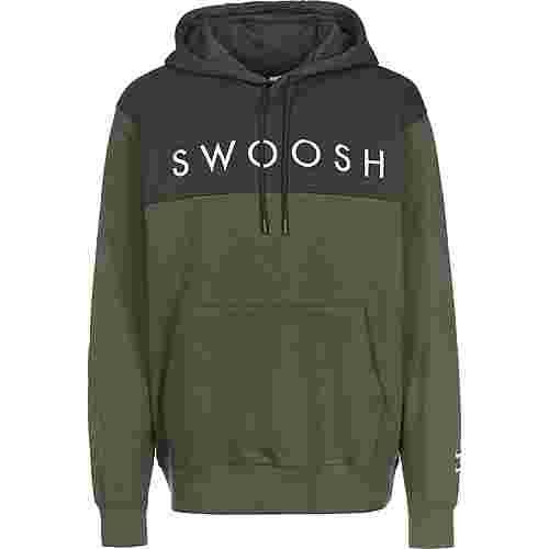 Nike Swoosh Hoodie Herren oliv