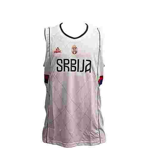 Peak Serbien 2016 Basketballtrikot Herren Serbia White