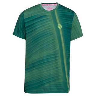BIDI BADU Enkil Tech V-Neck Tee Tennisshirt Herren dunkelgrün/dunkelblau