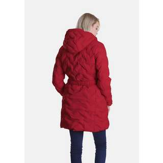 Dingy Weather mit Gürtel Steppjacke Damen rot