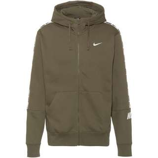Nike NSW Repeat Sweatjacke Herren medium olive-white