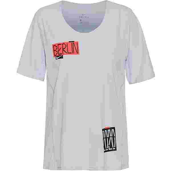 Nike Berlin Marathon Funktionsshirt Damen pure platinum