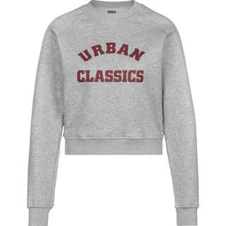 Urban Classics Short College Crew Sweatshirt Damen grau/meliert