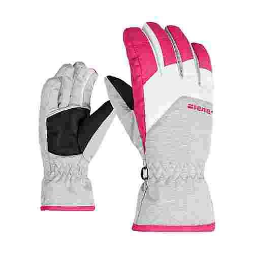 Ziener LANDO JUNIOR Skihandschuhe Kinder light melange.pop pink