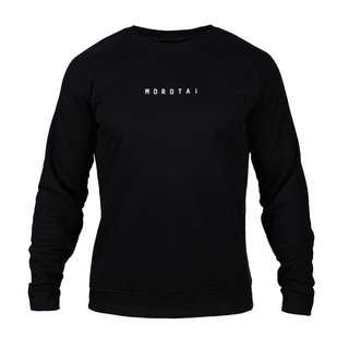 MOROTAI Logo Basic Sweatshirt Sweatshirt Herren Schwarz