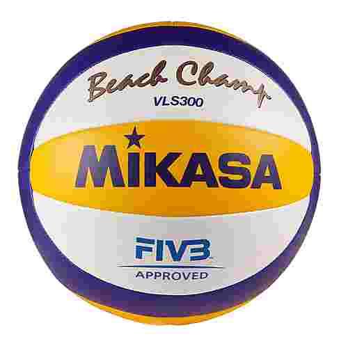 Mikasa Beachvolleyball weiß/blau/gelb