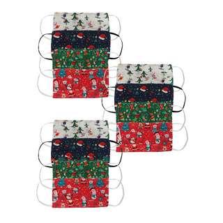 Zwillingsherz Weihnachtsmaske 12er Set Gesichtsmaske bunt