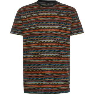 iriedaily Chop Chop T-Shirt Herren multi/orange/gestreift