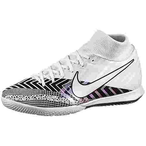 Nike Mercurial SUPERFLY 7 ACADEMY MDS IC Fußballschuhe white-white-black
