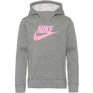 Nike Hoodie Kinder carbon heather-carbon heather-pink