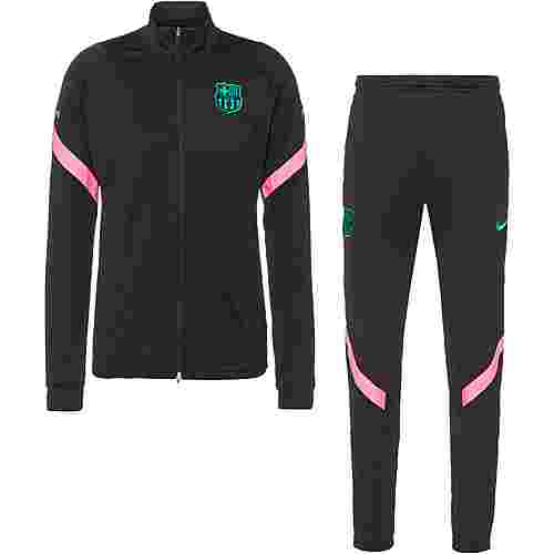 Nike FC Barcelona Trainingsanzug Herren black-black-pink beam-new green