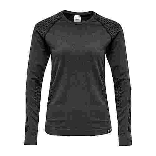 hummel hmlCI SEAMLESS T-SHIRT L/S T-Shirt Damen BLACK MELANGE