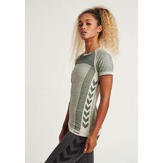 hummel hmlCLEA SEAMLESS T-SHIRT T-Shirt Damen MAGNET MELANGE