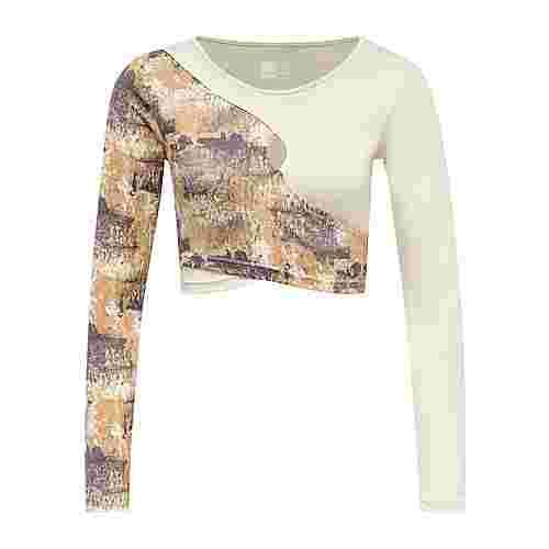 hummel hmlLOTUS CROPPED T-SHIRT L/S T-Shirt Damen BONE WHITE