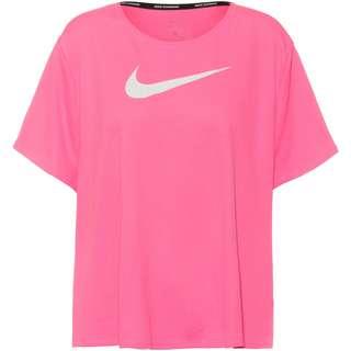 Nike Plus Size Funktionsshirt Damen pink glow-white