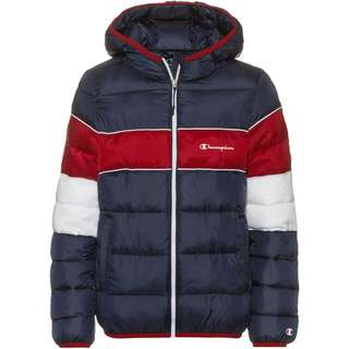 CHAMPION Kapuzenjacke Kinder sky captain-optical fluo white-rio red