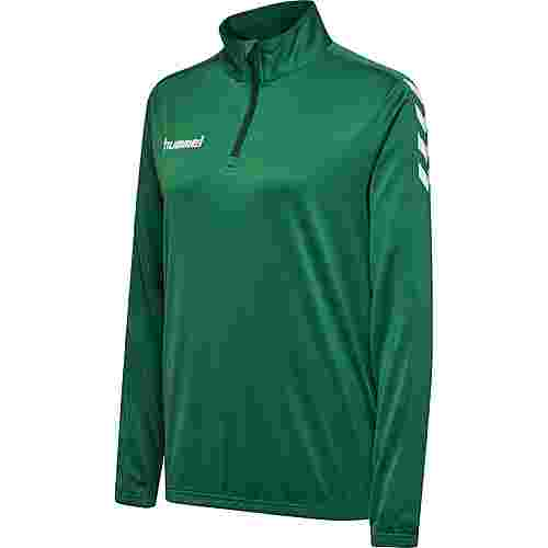 hummel CORE POLY HALF ZIP SWEATSHIRT WOMAN Sweatjacke Damen EVERGREEN