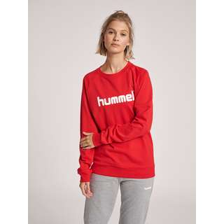 hummel HMLGO COTTON LOGO SWEATSHIRT WOMAN Sweatshirt Damen TRUE RED