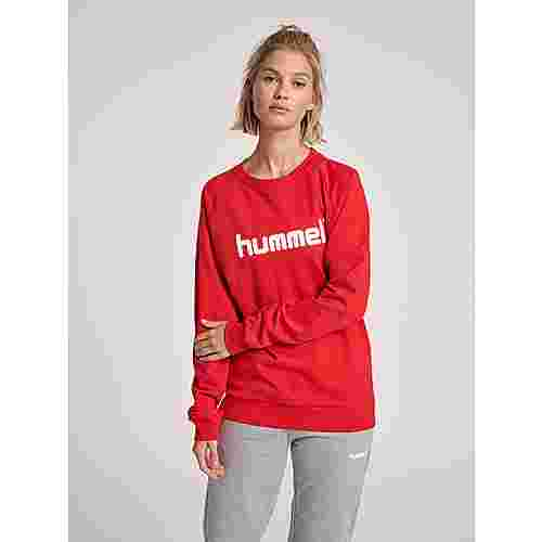 hummel HMLGO COTTON LOGO SWEATSHIRT WOMAN Sweatshirt Damen TRUE RED