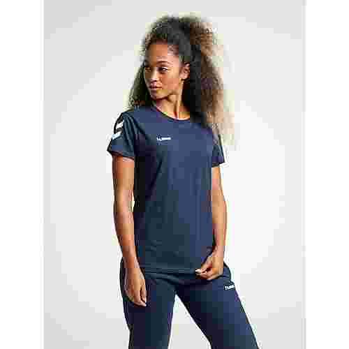 hummel HMLGO COTTON T-SHIRT WOMAN S/S T-Shirt Damen MARINE