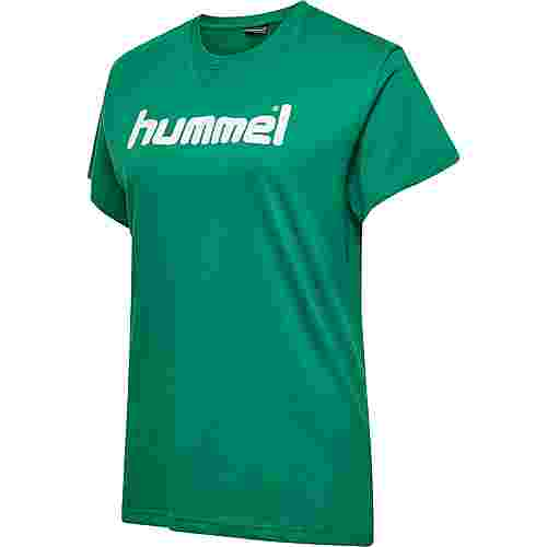 hummel HMLGO COTTON LOGO T-SHIRT WOMAN S/S T-Shirt Damen EVERGREEN