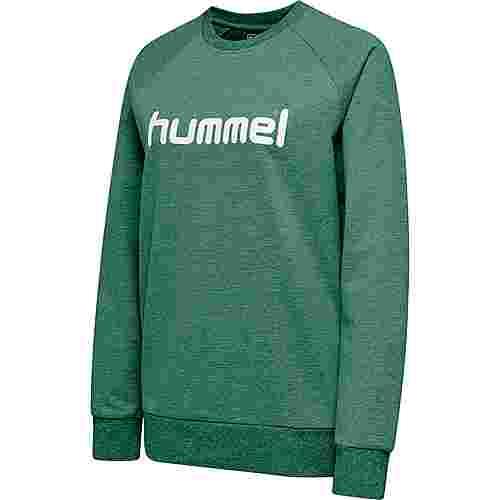 hummel HMLGO COTTON LOGO SWEATSHIRT WOMAN Sweatshirt Damen EVERGREEN