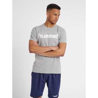 hummel HMLGO COTTON LOGO T-SHIRT S/S T-Shirt Herren GREY MELANGE