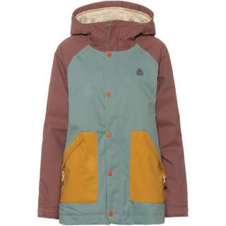Burton Eastfall Snowboardjacke Damen rose brown/trellis/harvest gold